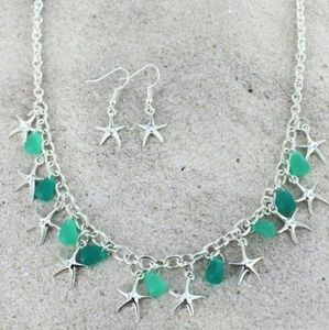 New Starfish Necklace& Earring Set!
